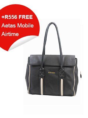 Black Cherry Black & Beige Bag