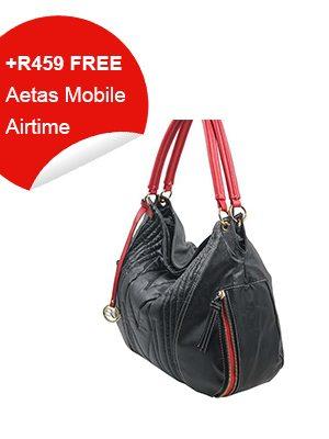 Black & red Trim Handbag