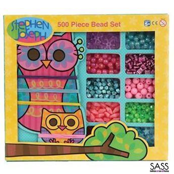 500 Piece Bead Set Owl