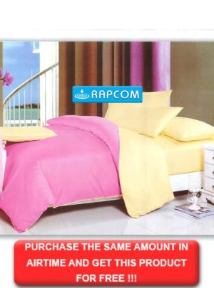King Bedding Pink And Yellow Set